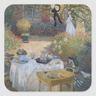The Luncheon: Monet's garden at Argenteuil Square Sticker