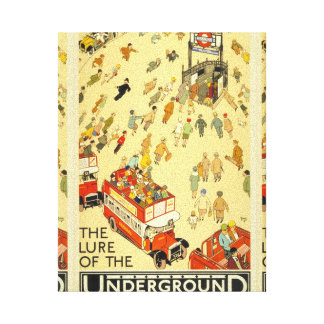 The Lure of the Underground, London Canvas Print