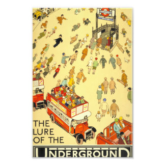 The Lure of the Underground, London Photo Print