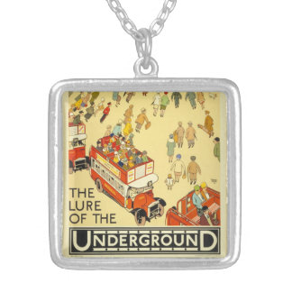 The Lure of the Underground, London Silver Plated Necklace