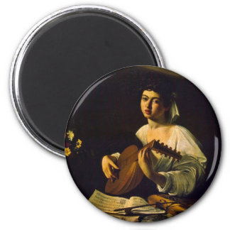The Lute Player By Michelangelo Merisi Da Caravagg Magnet