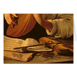 The Lute Player, c.1595 Card