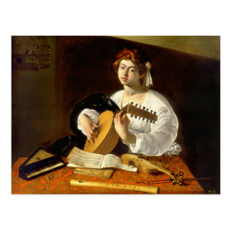 The Lute Player - Caravaggio Postcard