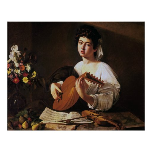The Lute Player, Caravaggio Posters