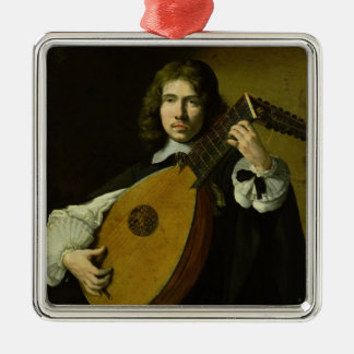 The Lute-Player Metal Ornament