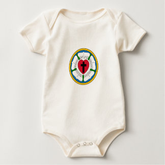 The Luther Rose Lutheranism Martin Luther Baby Bodysuit