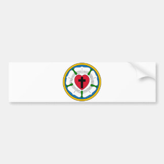 The Luther Rose Lutheranism Martin Luther Bumper Sticker