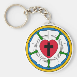 The Luther Rose Lutheranism Martin Luther Keychain