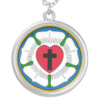 The Luther Rose Lutheranism Martin Luther Round Pendant Necklace