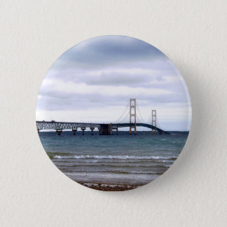 The Mackinac Bridge 2 Inch Round Button