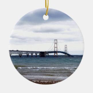 The Mackinac Bridge Ceramic Ornament