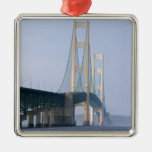 The Mackinac Bridge spanning the Straits of Christmas Tree Ornaments