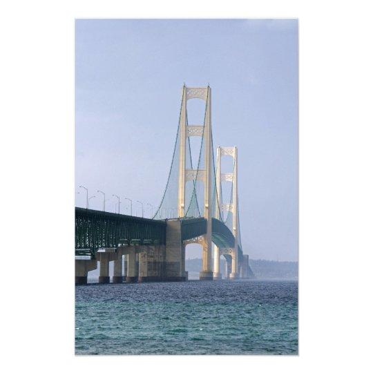 The Mackinac Bridge spanning the Straits of Photo Print