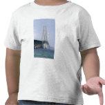 The Mackinac Bridge spanning the Straits of Tee Shirt