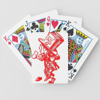The Mad Hatter Bicycle Playing Cards