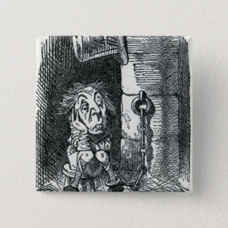 The Mad Hatter has been imprisoned by Queen 2 Inch Square Button