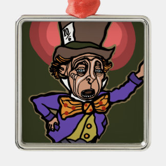 The Mad Hatter Metal Ornament
