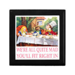 The Mad Hatter's Tea Party in Alice in Wonderland Gift Box