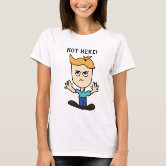the mad kid cartoon not here T-Shirt