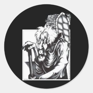 The Mad Monk Round Sticker