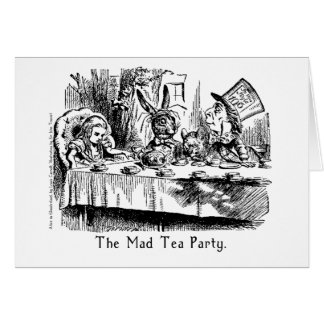 The Mad Tea Party Alice In Wonderland Card
