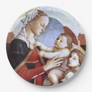 The Madonna and Child with an Angel is a painting Paper Plate