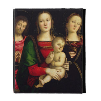 The Madonna and Child with St. John the Baptist an iPad Folio Cases