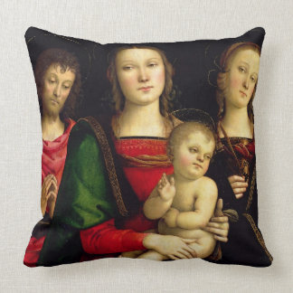 The Madonna and Child with St. John the Baptist an Throw Pillow