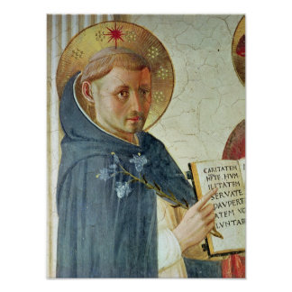 The Madonna delle Ombre, detail of St. Dominic Poster