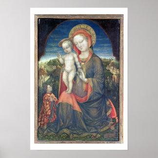 The Madonna of Humility adored by Leonello d'Este Poster