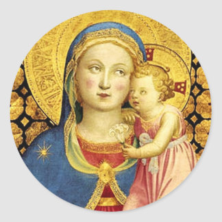 The Madonna of Humility Stickers by Fra Angelico