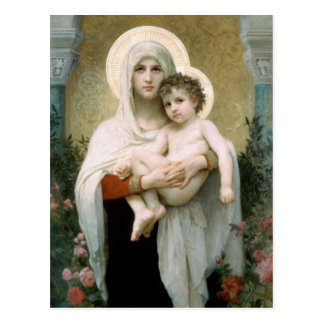 The Madonna of the Roses Christmas Postcard