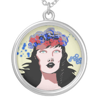 The Madonna Silver Plated Necklace