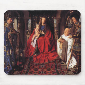 The Madonna with Canon van der Paele Mouse Pad