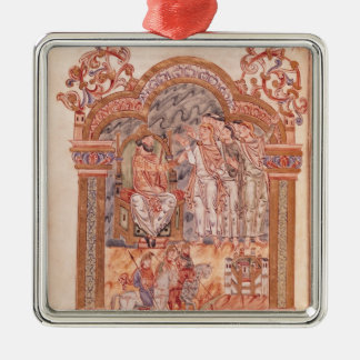 The Magi Visiting King Herod Metal Ornament