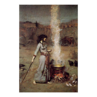 """The Magic Circle"" John William Waterhouse Poster"
