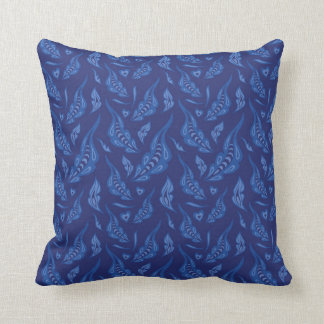 The magic feathers throw pillow