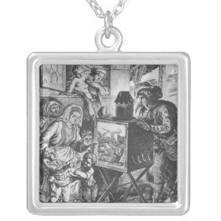 The Magic Lantern Silver Plated Necklace