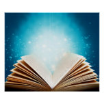 The magic of books and reading by healing love print