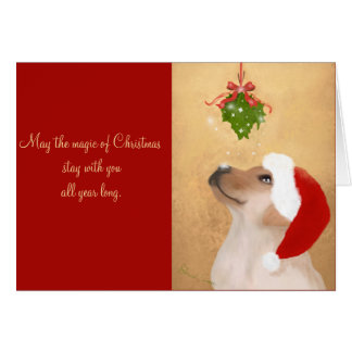 The Magic of Christmas Golden Retriever Christmas Card