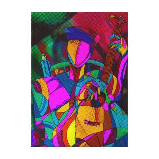 The magic to guitar canvas print