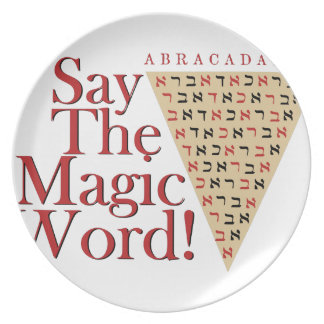 The Magic Word Plates