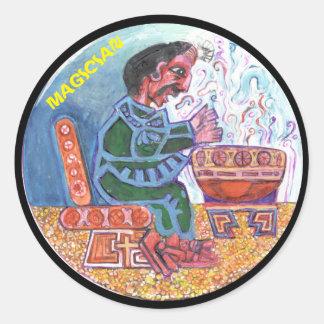 The magician colour - Amazing Mexico Button Classic Round Sticker