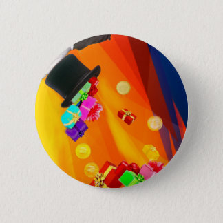 The magician hat brings golden gifts to you. 2 inch round button