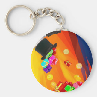 The magician hat brings golden gifts to you. keychain