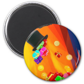 The magician hat brings golden gifts to you. magnet