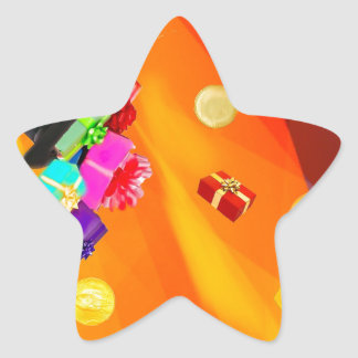 The magician hat brings golden gifts to you. star sticker