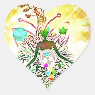 The Magician Heart Sticker