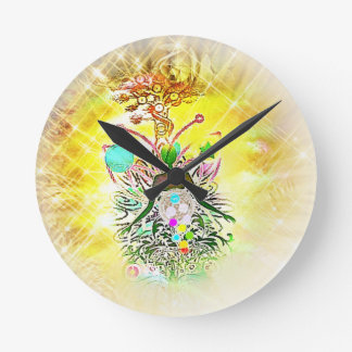 The Magician Round Clock