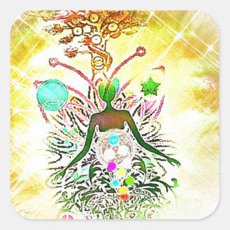 The Magician Square Sticker